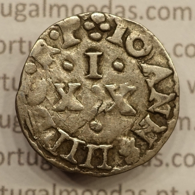 MOEDA VINTÉM - PRATA 1640-1656 (MBC) D. JOÃO IV