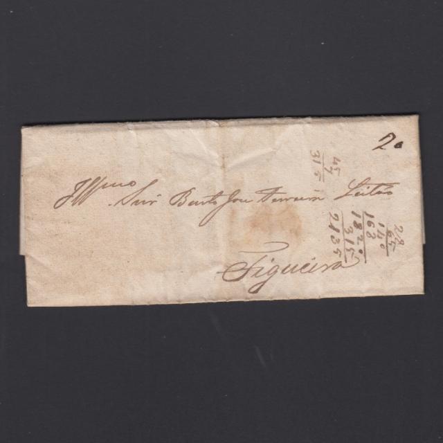 Pré-Filatélica circulada de Coimbra para Figueira da Foz datada de 09-03-1838