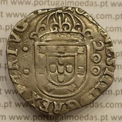 "MEIO CRUZADO - PRATA 1640-1656 (MBC+) LISBOA "" ...REX PORTVGALI / ...VINºCES -"
