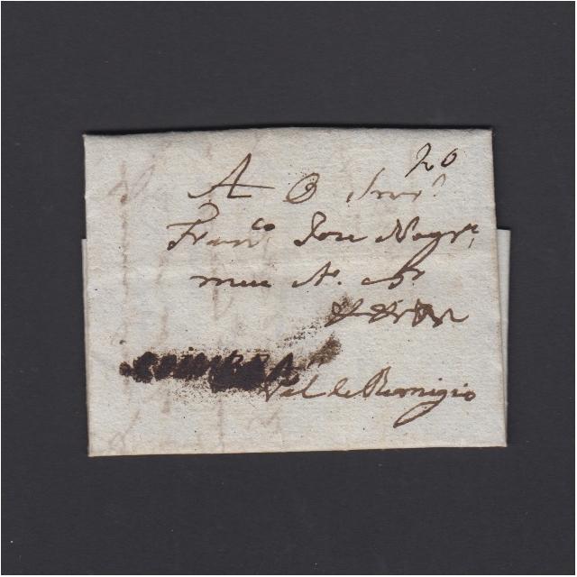 Pré-Filatélica circulada de Coimbra para Vale Remigio datada de 27-05-1828