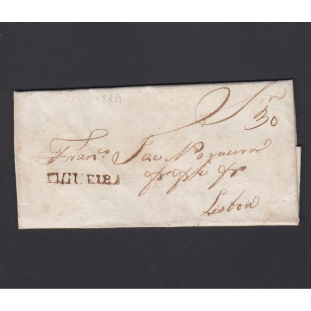 Carta Pré-Filatélica circulada de Figueira da Foz para Lisboa datada de 02-02-1829
