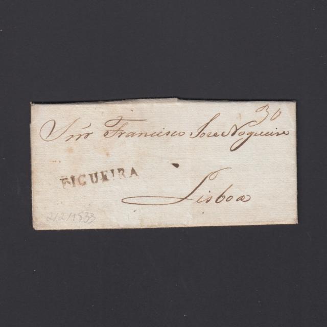 Carta Pré-Filatélica circulada de Figueira da Foz para Lisboa datada de 02-02-1833