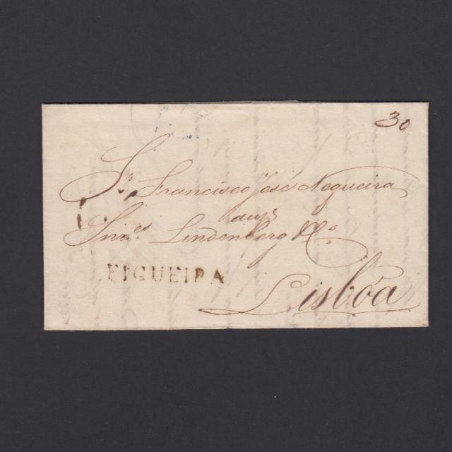 Carta Pré-Filatélica circulada de Figueira da Foz para Lisboa datada de 09-06-1835