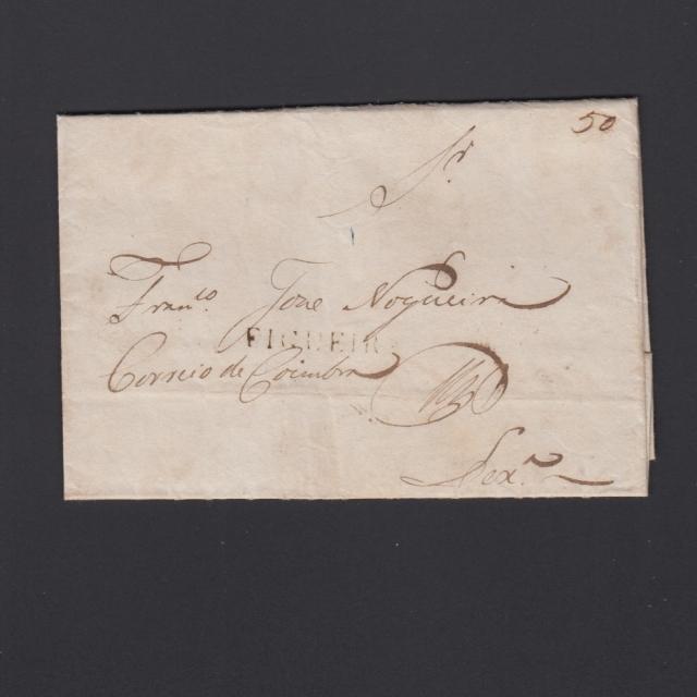 Carta Pré-Filatélica circulada de Figueira da Foz para Lisboa datada de 16-06-1835