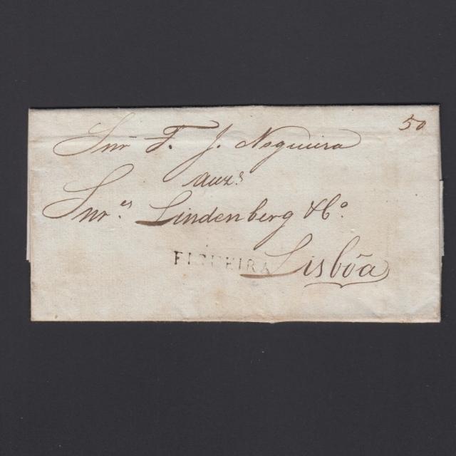 Carta Pré-Filatélica circulada de Figueira da Foz para Lisboa datada de 21-06-1835