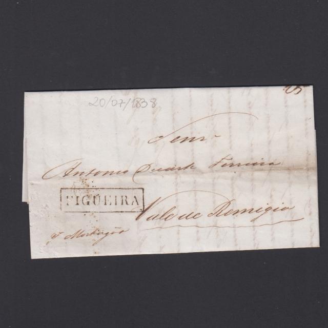 Carta Pré-Filatélica circulada de Figueira da Foz para Vale Remigio datada de 20-07-1838