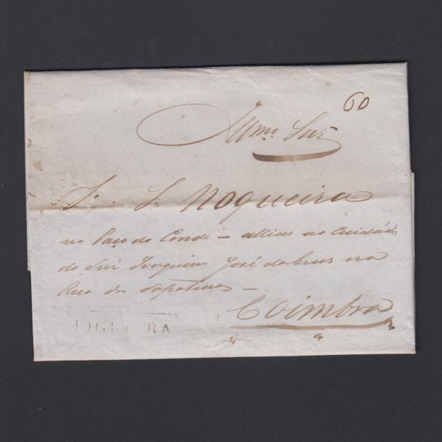 Carta Pré-Filatélica circulada de Figueira da Foz para Coimbra datada de 08-12-1839