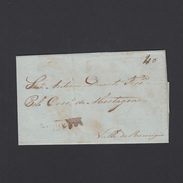 Carta Pré-Filatélica circulada de Figueira da Foz para Vale Remigio datada de 30-09-1843