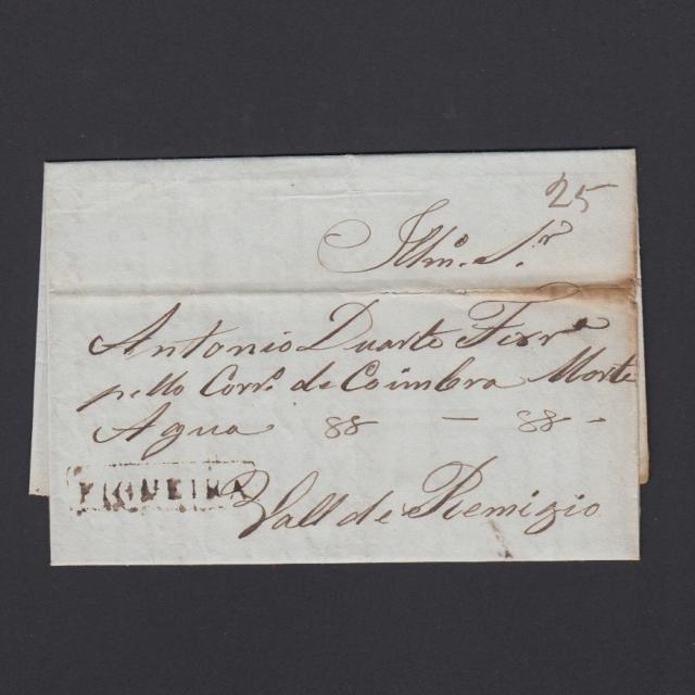 Carta Pré-Filatélica circulada de Figueira da Foz para Vale Remigio datada de 15-02-1844