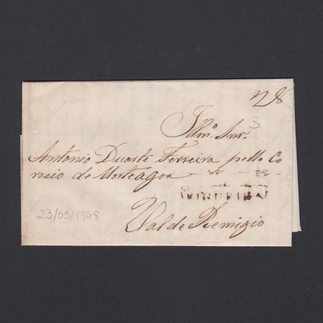 Carta Pré-Filatélica circulada de Figueira da Foz para Vale Remigio datada de 23-05-1848