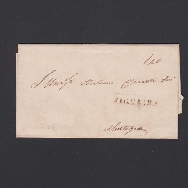 Carta Pré-Filatélica circulada de Figueira da Foz para Mortágua datada de 07-06-1849