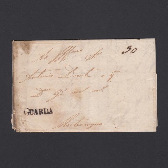 Carta Pré-Filatélica circulada de Guarda para Mortágua não datada