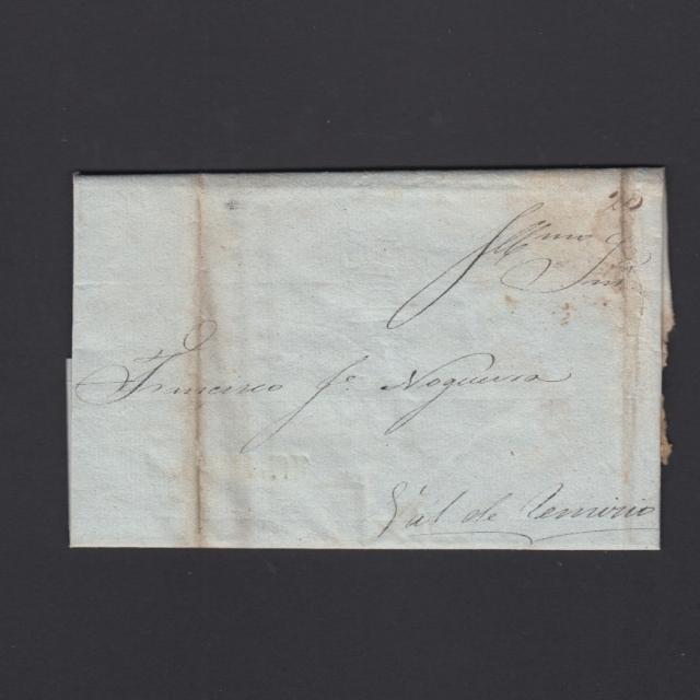 Carta Pré-Filatélica circulada de Mangualde para Vale Remigio datada 10-04-1840