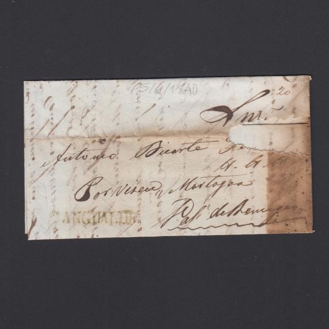 Carta Pré-Filatélica circulada de Mangualde para Vale Remigio datada 05-06-1840
