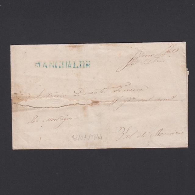 Carta Pré-Filatélica circulada de Mangualde para Vale Remigio datada 12-07-1844