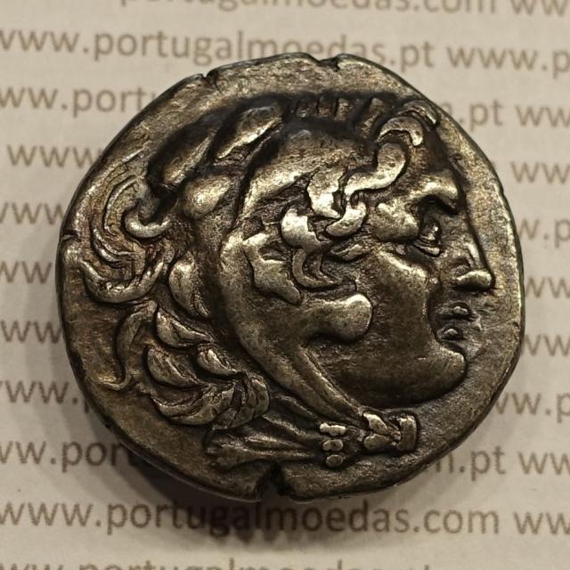 "MOEDA PRATA TETRADRACMA DE ALEXANDRE III ""ALEXANDRE O GRANDE"" REINO DA MACEDÓNIA - ANO 275 aC."