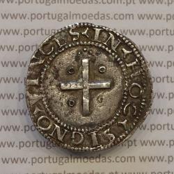 MOEDA REAL PORTUGUÊS DOBRADO - PRATA 1521-1557 - D. JOÃO III