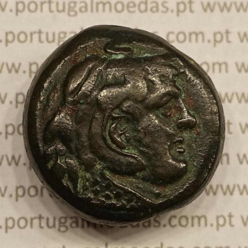 MOEDA OBOL BRONZE (285 a.C. A 246 a.C.) PTOLOMEU II FILADELFO