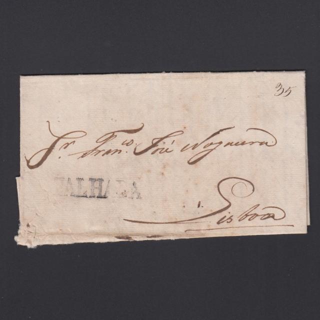 Carta Pré-Filatélica circulada de Mialhada (Mealhada)  para Lisboa datada 10-04-1830