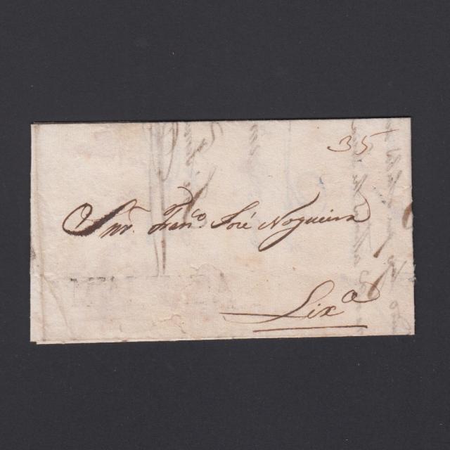 Carta Pré-Filatélica circulada de Mialhada (Mealhada) para Lisboa datada 18-12-1830
