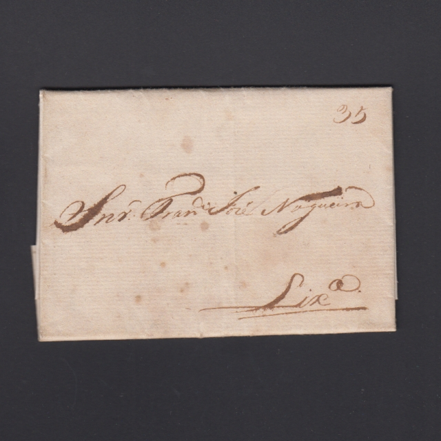 Carta Pré-Filatélica circulada de Mialhada (Mealhada) para Lisboa datada 09-04-1831