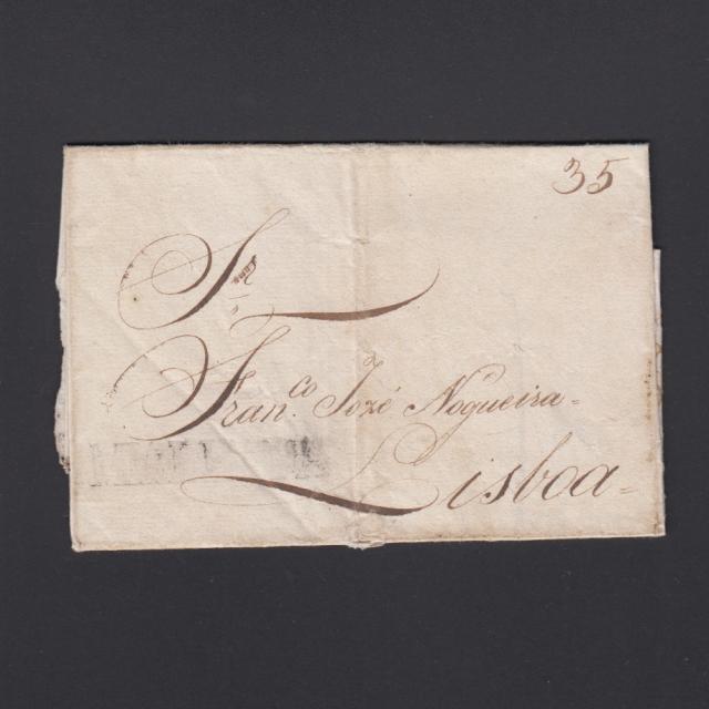 Carta Pré-Filatélica circulada de Mialhada (Mealhada) para Lisboa datada 10-05-1831