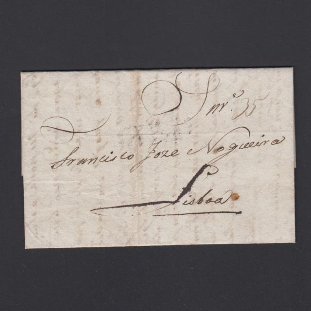 Carta Pré-Filatélica circulada de Mialhada (Mealhada) para Lisboa datada 18-04-1832