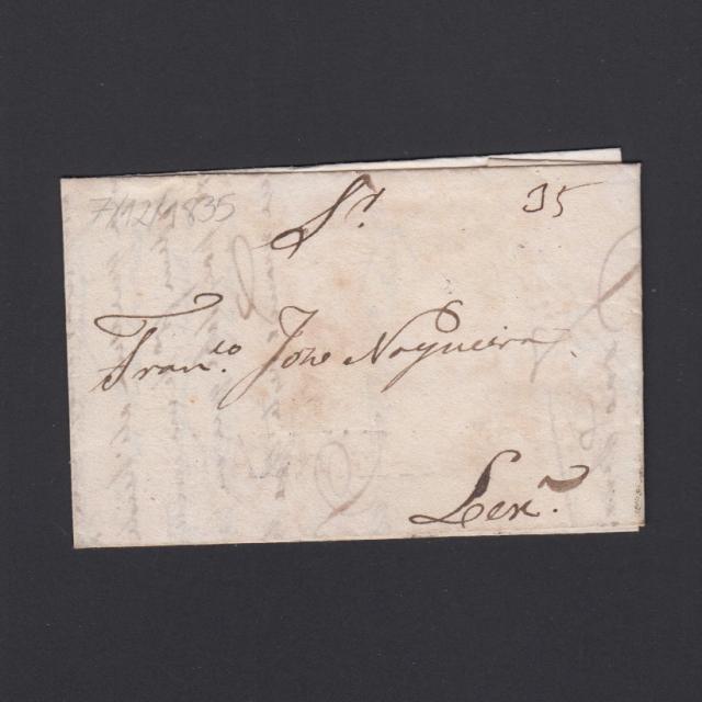Carta Pré-Filatélica circulada de Mialhada (Mealhada) para Lisboa datada 07-12-1835