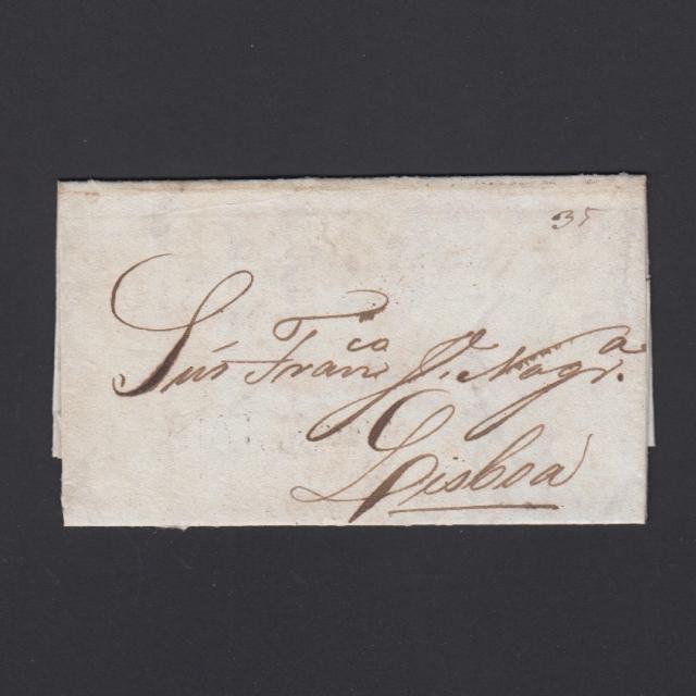 Carta Pré-Filatélica circulada de Mialhada (Mealhada) para Lisboa datada 16-05-1838