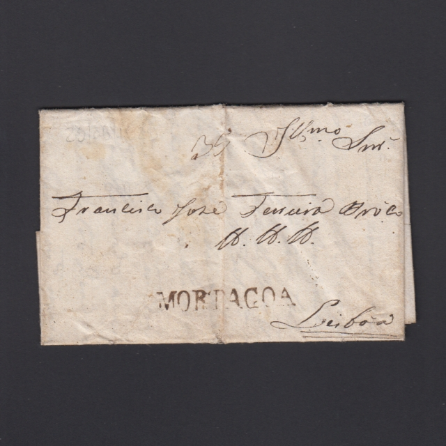 Carta Pré-Filatélica circulada de Mortágua para Lisboa datada 29-08-1829