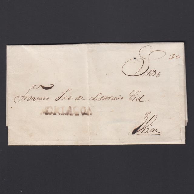 Carta Pré-Filatélica circulada de Mortágua para Viseu datada 20-05-1838