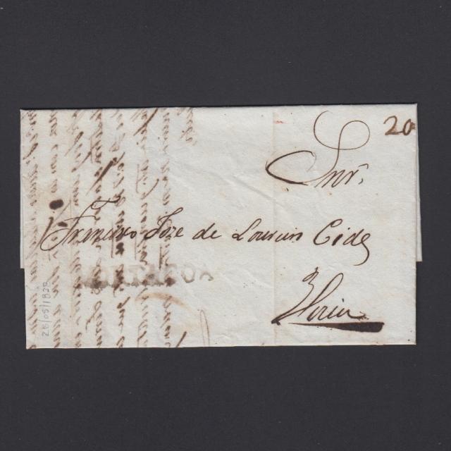 Carta Pré-Filatélica circulada de Mortágua para Viseu datada 28-05-1838