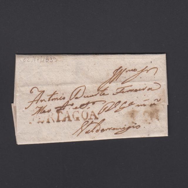 Carta Pré-Filatélica circulada de Mortágua para Vale Remigio datada 02-07-1839