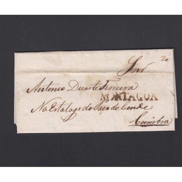 Carta Pré-Filatélica circulada de Mortágua para Coimbra datada 10-09-1839