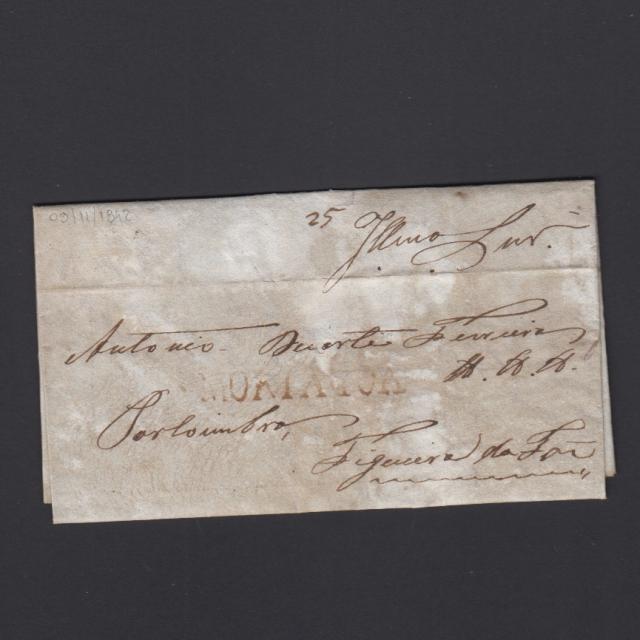 Carta Pré-Filatélica circulada de Mortágua para Figueira da Foz datada 09-11-1842