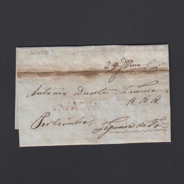 Carta Pré-Filatélica circulada de Mortágua para Figueira da Foz datada 04-12-1842