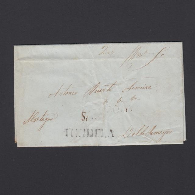 Pré-Filatélica circulada de Sabugoza para Vale Remigio datada 19-11-1847