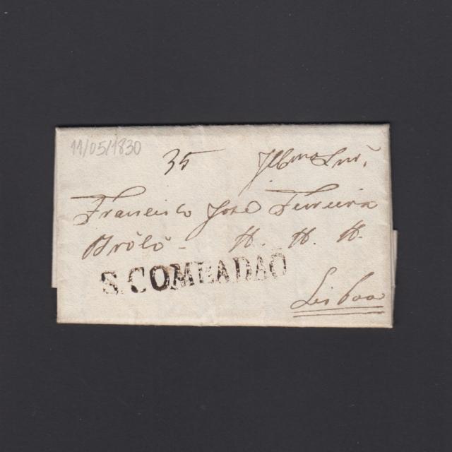Pré-Filatélica circulada de S. Comba Dão para Lisboa datada 11-05-1830