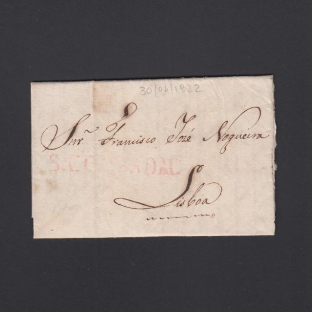 Pré-Filatélica circulada de S. Comba Dão para Lisboa datada 30-04-1832