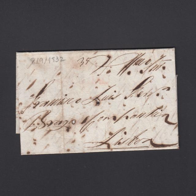 Pré-Filatélica circulada de S. Comba Dão para Lisboa datada 08-09-1832