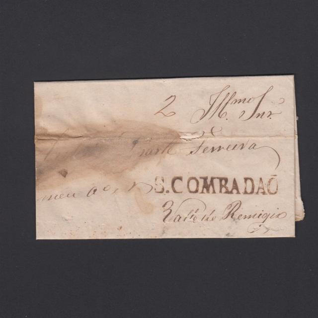 Pré-Filatélica circulada de S. Comba Dão para Vale Remigio datada 08-01-1844