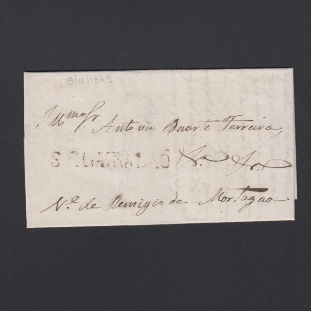 Pré-Filatélica circulada de S. Comba Dão para Vale Remigio datada 30-09-1849