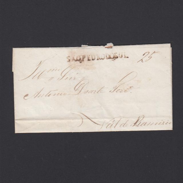 Pré-Filatélica circulada de S. Pedro do Sul para Vale Remigio datada 17-04-1847