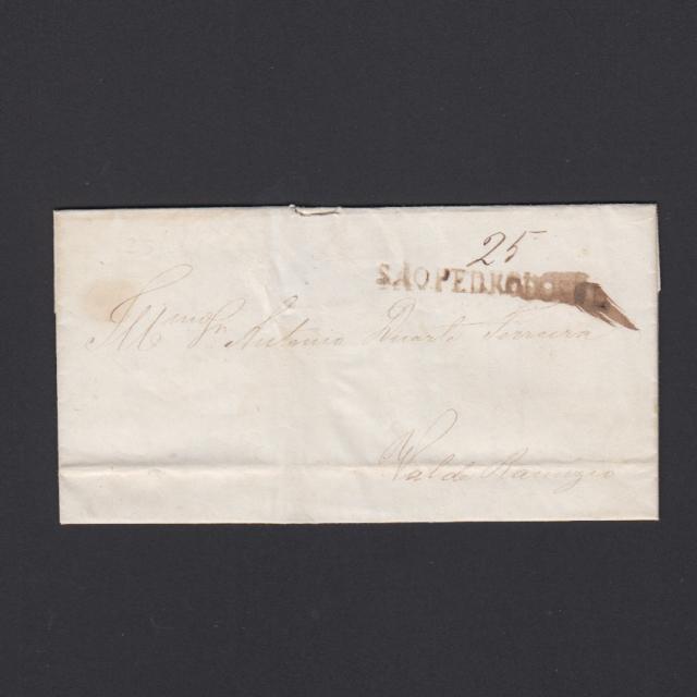 Pré-Filatélica circulada de S. Pedro do Sul para Vale Remigio datada 25-04-1847