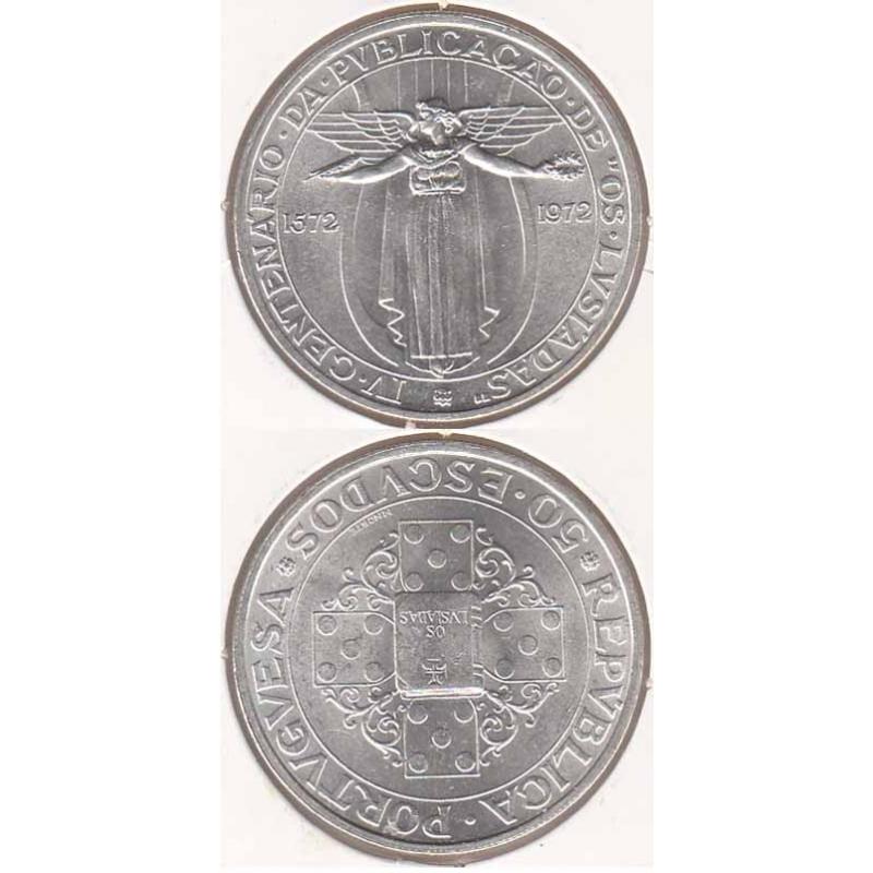 50 Escudos Prata 1972 Lusíadas ( moeda 50$00 Lusíadas)