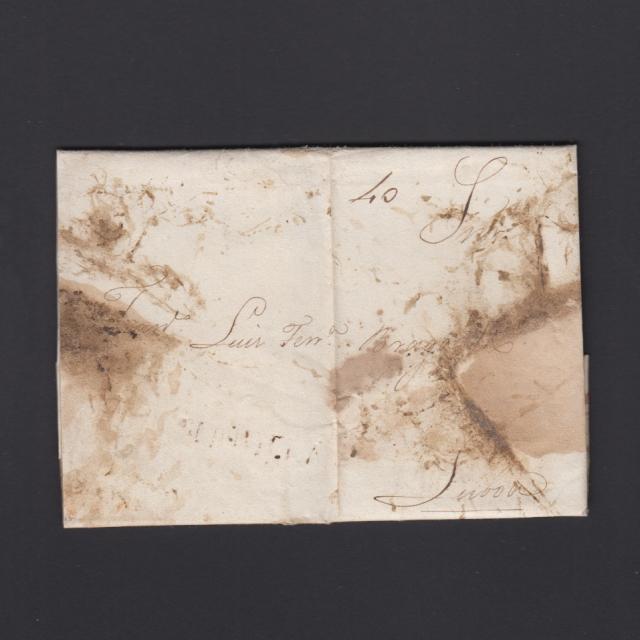 Pré-Filatélica circulada de Tondela para Lisboa datada 27-12-1831