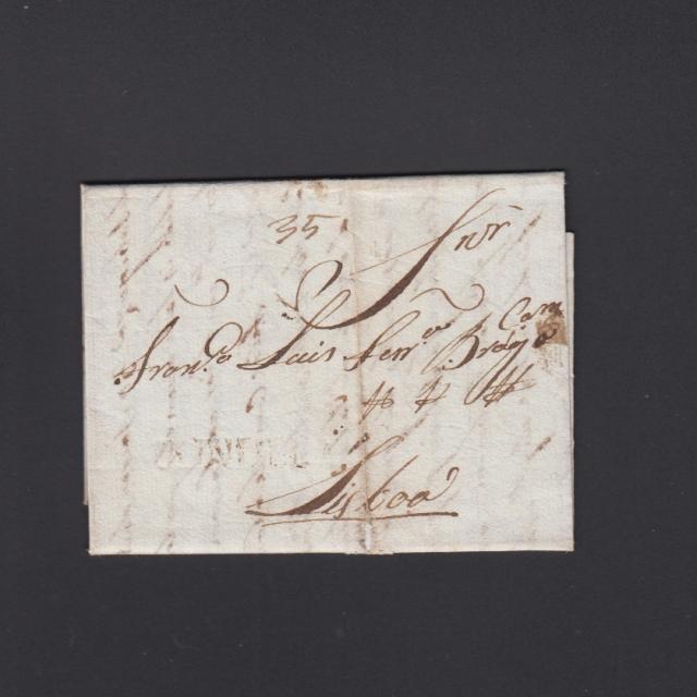 Pré-Filatélica circulada de Tondela para Lisboa datada 26-04-1832