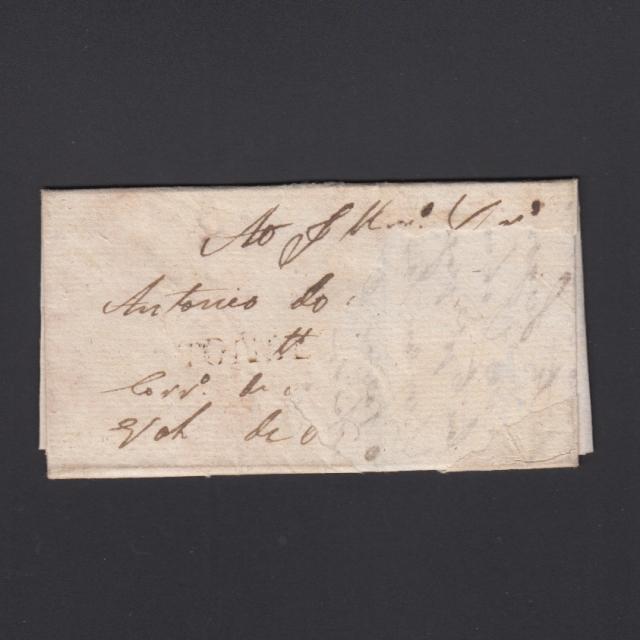 Pré-Filatélica circulada de Tondela para Vale Remigio datada 1837