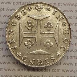 CRUZADO NOVO PRATA (480 RÉIS) 1815 (BELA) DISCO REAPROVEITADO OU CUNHO EMENDADO.