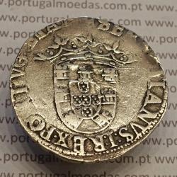 MOEDA TOSTÃO PRATA (1557-1578) D. SEBASTIÃO I - 2º TIPO E DIVERSAS VARIANTES NÃO CLASSIFICADAS